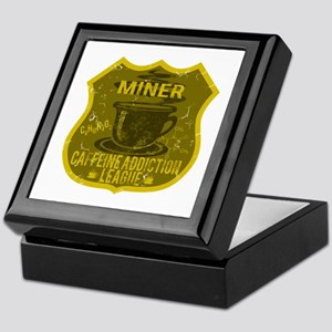 Miner Caffeine Addiction Keepsake Box