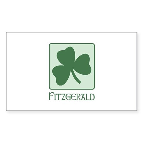 Fitzgerald Family Rectangle Sticker