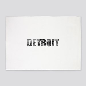 Detroit Skyline 5'x7'Area Rug