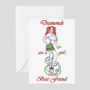 Diamonds are a Girls' Best Fr Greeting Cards (Pack