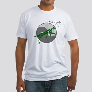 Praying Mantis Kung Fu Logo Fitted T-Shirt