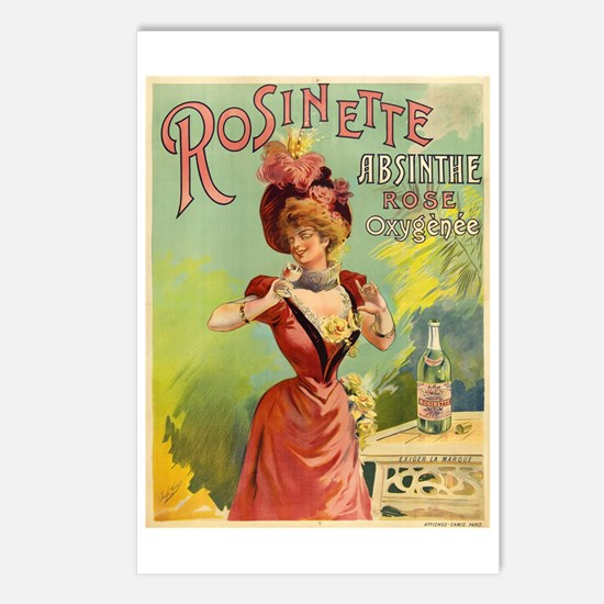 Absinthe Rosinette Postcards (Package of 8)