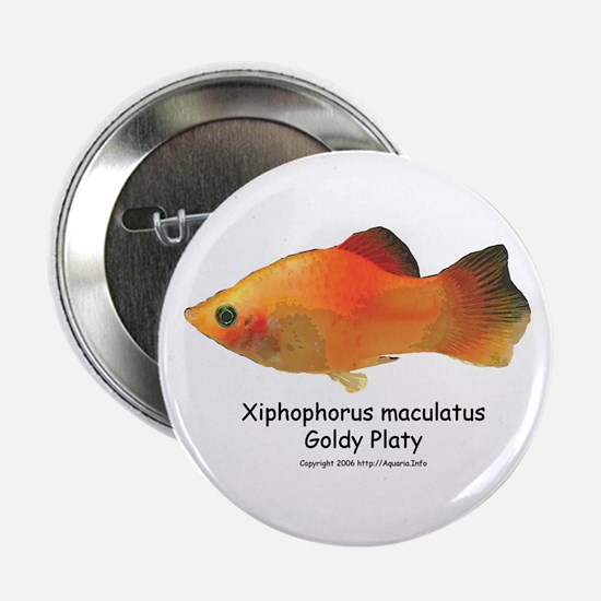 Gold Platy Button