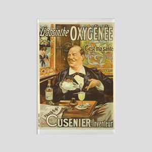 Absinthe Oxygenee Cusenier Rectangle Magnet