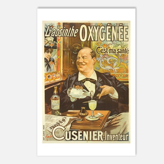 Absinthe Oxygenee Cusenier Postcards (Package of 8