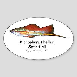 Swordtail Oval Sticker