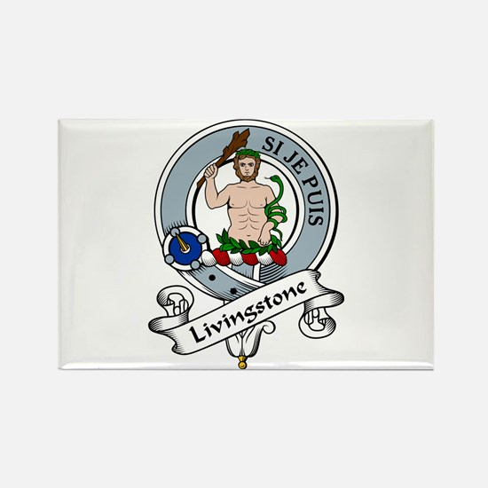 Livingstone Clan Badge Rectangle Magnet (10 pack)