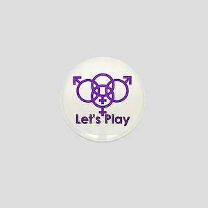 "Swinger Symbol ""Let's Play"" Mini Button"