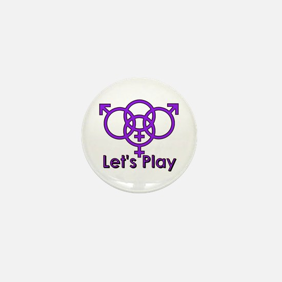 "Swinger Symbol ""Let's Play"" Mini Button"