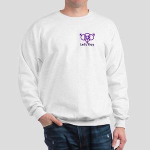 "Swinger Symbol ""Let's Play"" Sweatshirt"