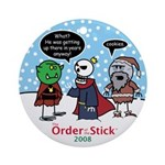 2008 Order Of The Stick Holiday Round Ornament