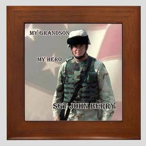My Grandson My Hero Framed Tile