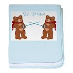Teddy Bear Fencers baby blanket