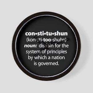 Constitushun Wall Clock