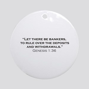 Banker / Genesis Ornament (Round)