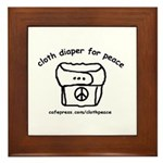 Cloth Diaper for Peace Framed Tile