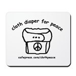 Cloth Diaper for Peace Mousepad