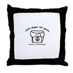 Cloth Diaper for Peace Throw Pillow