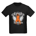 Leukemia Cancer Warrior Kids Dark T-Shirt