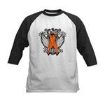 Leukemia Cancer Warrior Kids Baseball Jersey