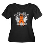 Leukemia Cancer Warrior Women's Plus Size Scoop Ne