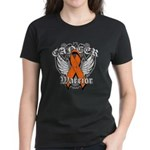 Leukemia Cancer Warrior Women's Dark T-Shirt