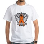 Leukemia Cancer Warrior White T-Shirt