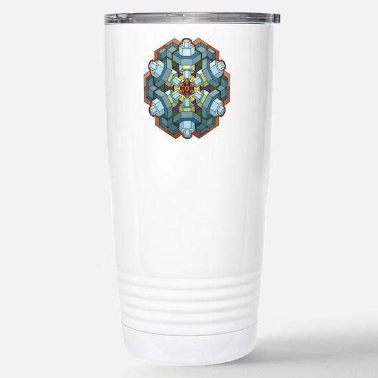 Sparkplug Mandala Stainless Steel Travel Mug