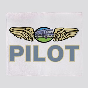 RV Pilot Throw Blanket