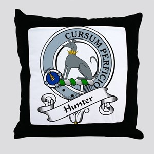 Hunter Clan Badge Throw Pillow