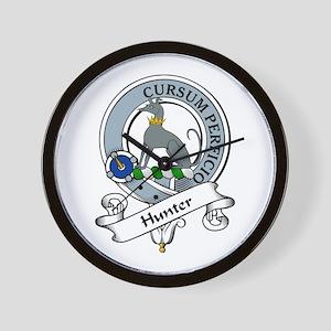 Hunter Clan Badge Wall Clock