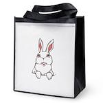 Easter Bunny Rabbit Reusable Grocery Tote Bag