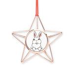 Easter Pocket Bunny Copper Star Ornament