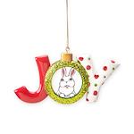 Easter Bunny Pocket Rabbit Art Joy Ornament