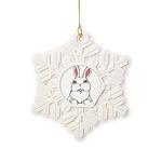 Easter Bunny Pocket Rabbit Art Snowflake Ornament