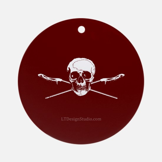 LAX Sticks & Skulls Ornament (Round)