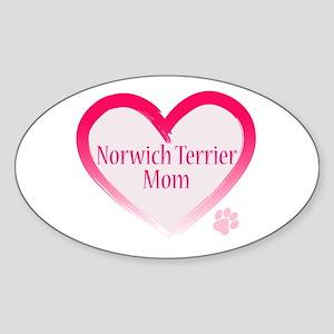 Pug Mom Oval Sticker