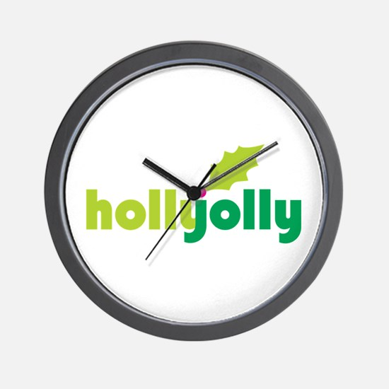Holly Jolly Wall Clock