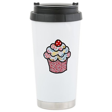 Holiday Sprinkle Cake Stainless Steel Travel Mug
