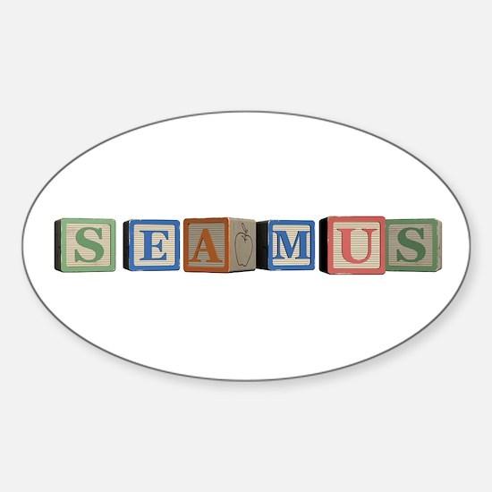 Seamus Alphabet Block Sticker (Oval)
