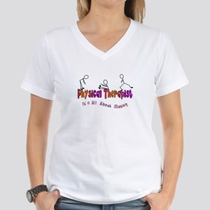 Physical Therapists II Women's V-Neck T-Shirt
