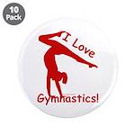 Gymnastics Buttons (10) - Love