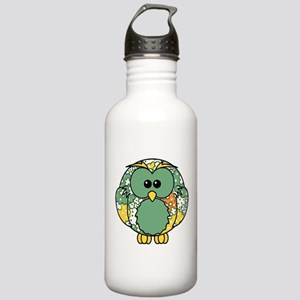 Retro Daisy Owl Stainless Water Bottle 1.0L