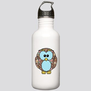 Country Rose Owl Stainless Water Bottle 1.0L