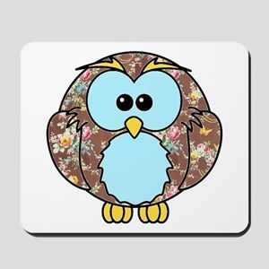 Country Rose Owl Mousepad