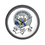 Hope Clan Badge Wall Clock