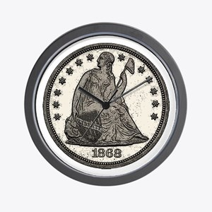 Seated Liberty Obverse Wall Clock