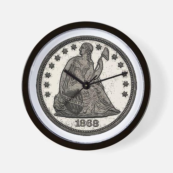 Seated Liberty Obverse Wall Clock