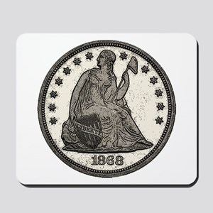 Seated Liberty Obverse Mousepad