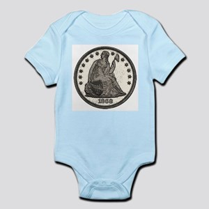 Seated Liberty Obverse Infant Creeper